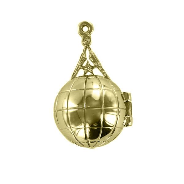 Rare Masonic Ladder Orb - Solid Silver and Gold Plated